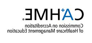 Commission on 认证 of Healthcare Management Education logo.