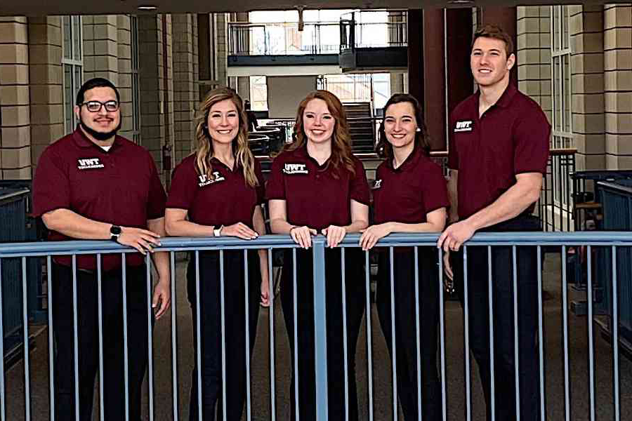 TWU's Good Vibrations Spring 2020 Team - Collin Pagel, Madeline Boutwell, Leah Jeffcoat, Brittany Patton, Alex Rios