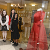 TWU fashion design students speak with Texas first lady Cecilia Abbott during the Oct. 13 reception
