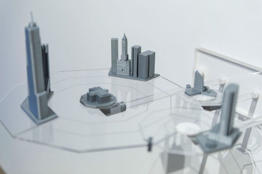 Model of tiny city scape - 3D printed